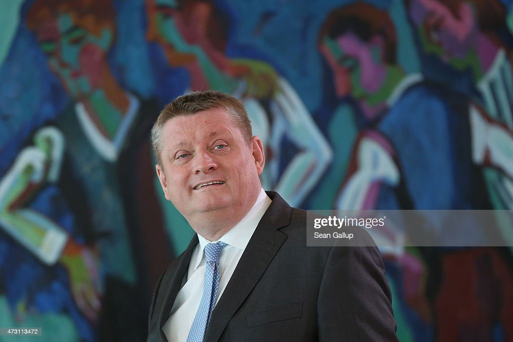 German Health Minister Hermann Groehe arrives for the weekly government cabinet meeting on May 13, 2015 in Berlin, Germany. High on the morning's agenda was a strategy towards combating antiobiotics-resistant bacteria.