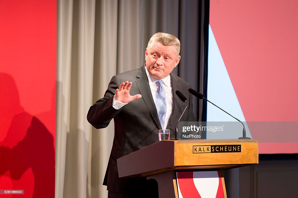 German Heath Minister Hermann Groehe speaks during the launch of a new sensibilisation campaign for prevention from HIV and STDs at the Kalkscheune in Berlin, Germany on May 4, 2016. The campaign is presented from the Federal Centre for Health Education with the new motto 'Liebesleben'.