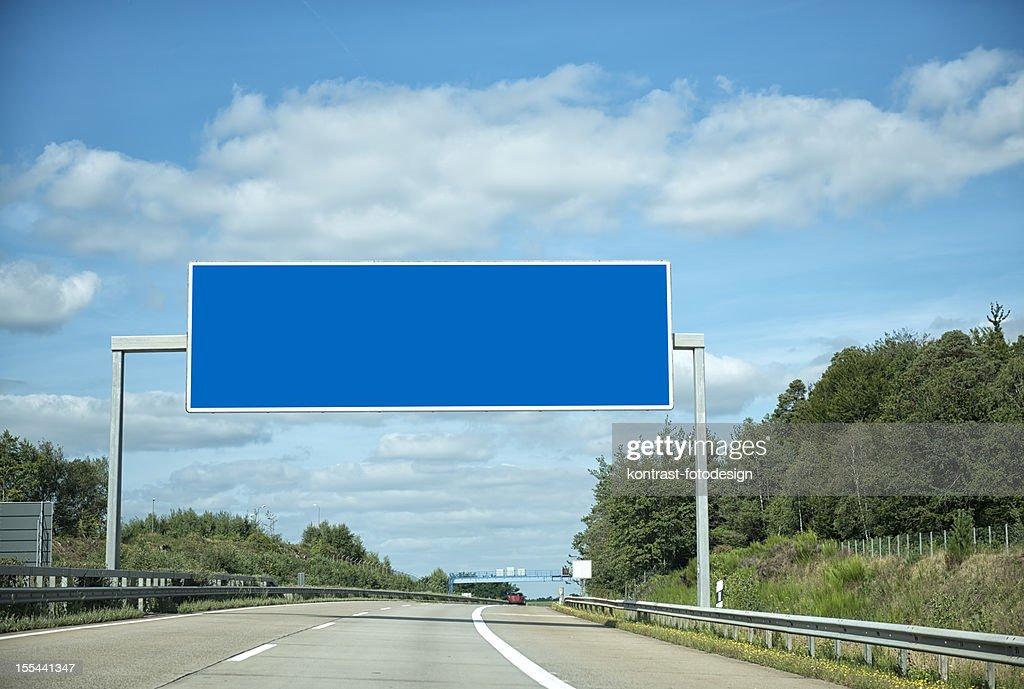 German highway under cloudscape
