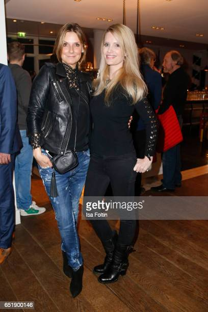 German host and singer Kim Fischer and german actress Mirja du Mont attend the 'Baltic Lights' charity event on March 10 2017 in Heringsdorf Germany...