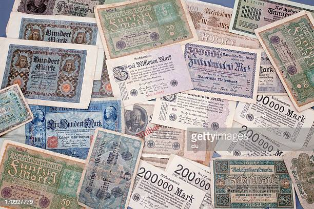 German Inflation money from 1920s
