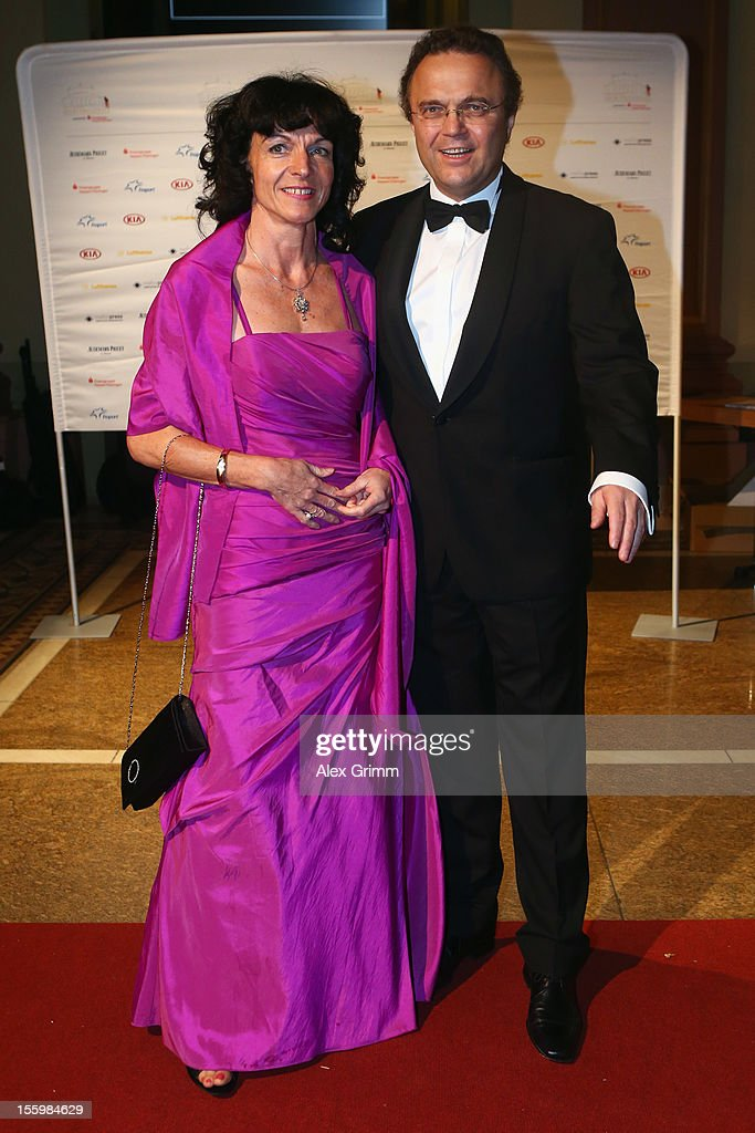 German Interior Minister Hans-Peter Friedrich and his wife Annette pose during the 31. Sportpresseball at Alte Oper on November 10, 2012 in Frankfurt am Main, Germany.