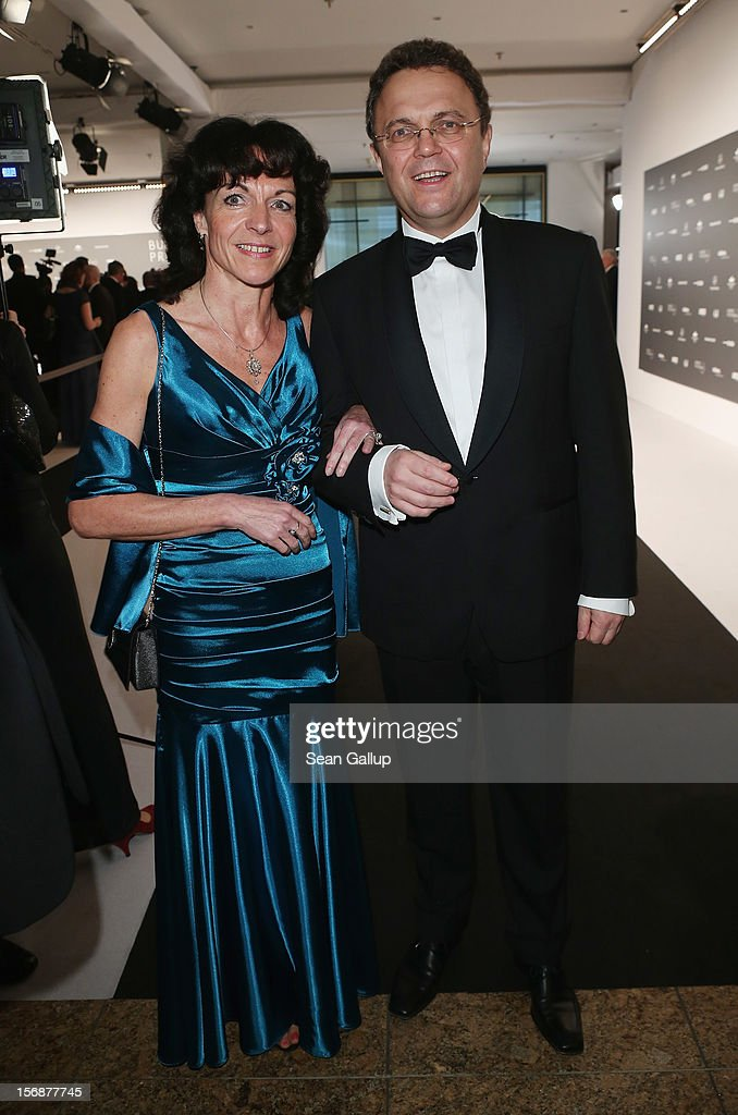 German Interior Minister Hans-Peter Friedrich and his wife Annette attend the 2012 Bundespresseball (Federal Press Ball) at the Intercontinental Hotel on November 23, 2012 in Berlin, Germany.