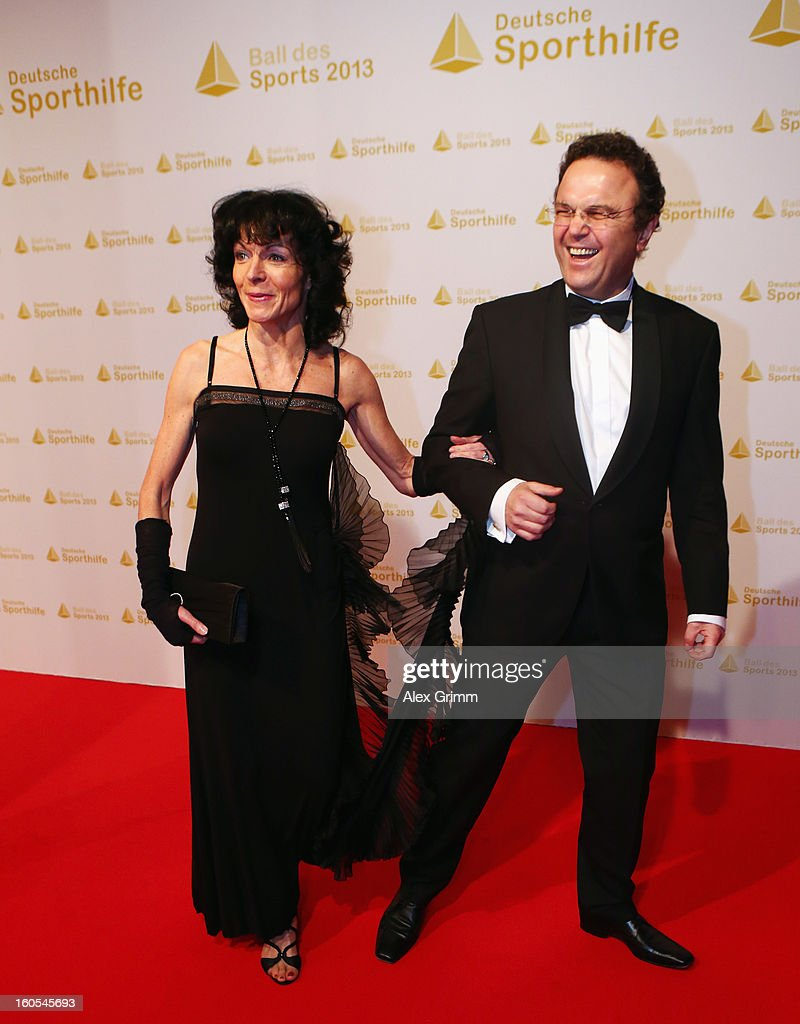 German Interior Minister Hans-Peter Friedrich and his wife Annette Friedrich arrive for the 'Ball des Sports 2013' at Rhein-Main-Hallen on February 2, 2013 in Wiesbaden, Germany.
