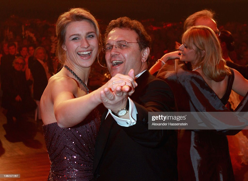 German Interior Minister HansPeter Friedrich dances with Britta Heidemann during the 2012 Sports Gala 'Ball des Sports' at the RheinMain Hall on...