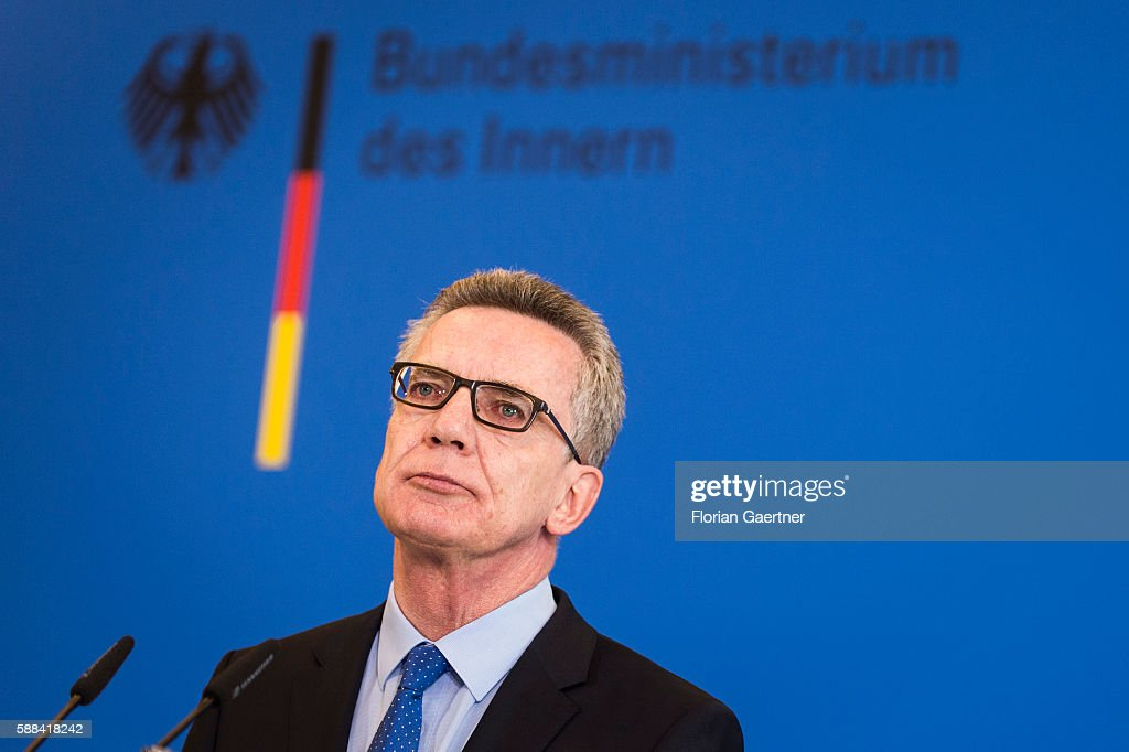 Press Conference With Interior Minister Thomas De Maiziere About Security In Germany