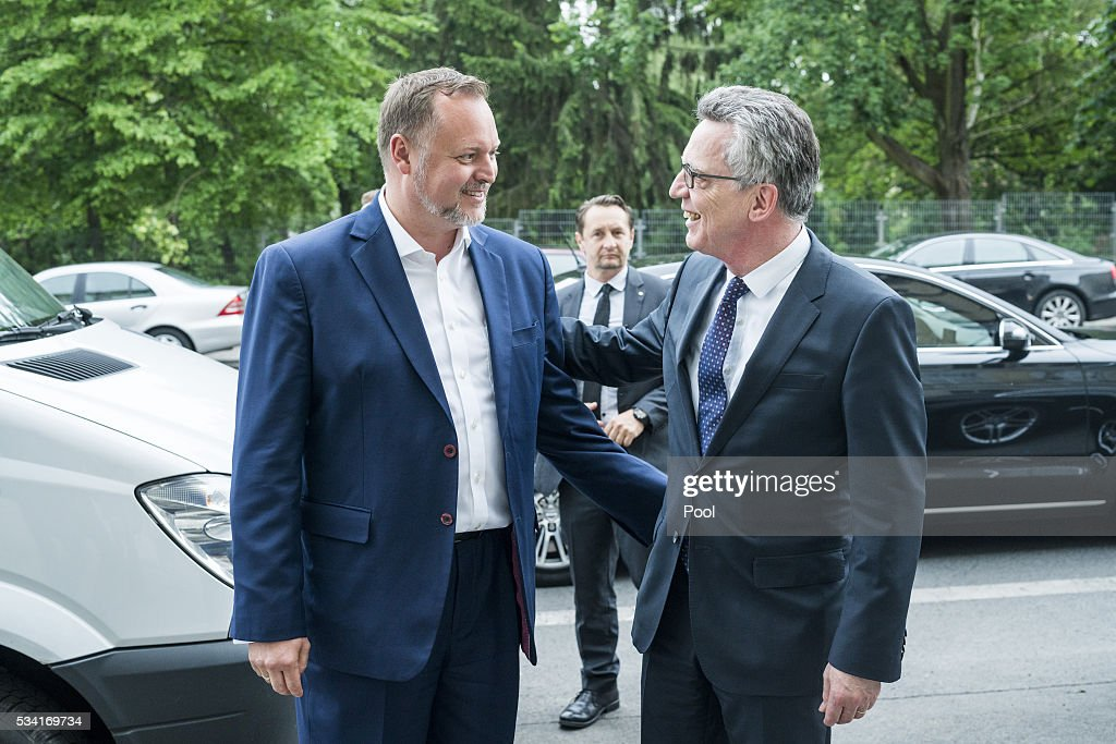German Interior Minister <a gi-track='captionPersonalityLinkClicked' href=/galleries/search?phrase=Thomas+de+Maiziere&family=editorial&specificpeople=618845 ng-click='$event.stopPropagation()'>Thomas de Maiziere</a> is seen during his visit to an integration project named 'Heroes' on May 25, 2016 in Berlin, Germany. 'Heroes' trains young men, mostly of immigrant backgrounds and who come from families with very non-Western outlooks on the role of honor, marriage and women, to adopt a more liberal approach and attitude. The young men then go back into their communities and seek to influence others. Germany is home to many very conservative immigrant families, especially from eastern Turkey, where the behavior of a daughter is seen to have a great impact on the honor of the entire family. There are typically dozens of cases of 'honor killings' every year across Germany in which family members murder a daughter whom they feel has abandoned her conservative principles, often by adopting Western dress and education or marrying outside the community.
