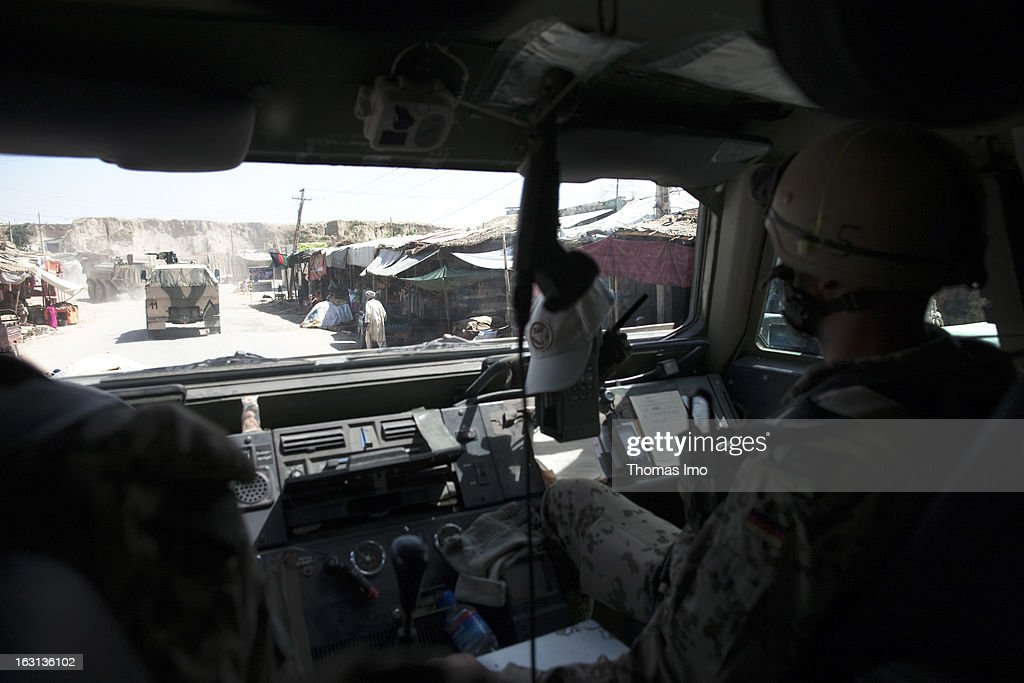 German ISAF soldiers in a Dingo All Protected Vehicle