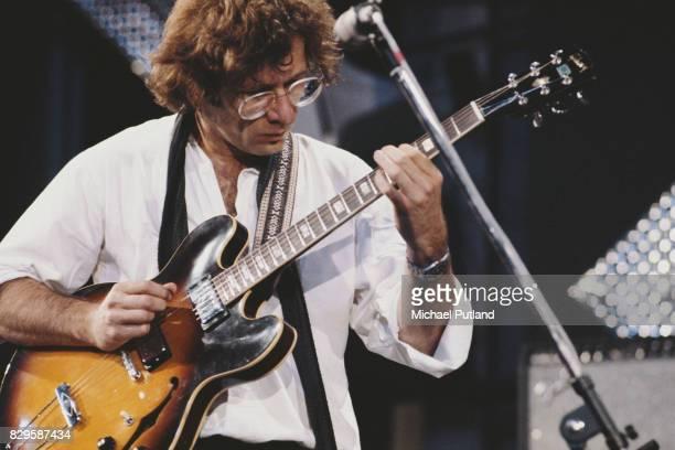 German jazz guitarist and composer Volker Kriegel performs at Montreux Jazz Festival Switzerland circa 1980