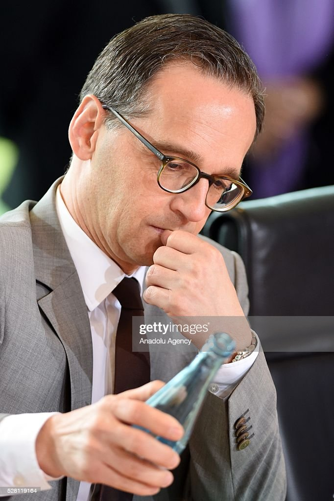 German Justice Minister Heiko Maas attends the weekly cabinet meeting at the Chancellery in Berlin, Germany on May 04, 2016.