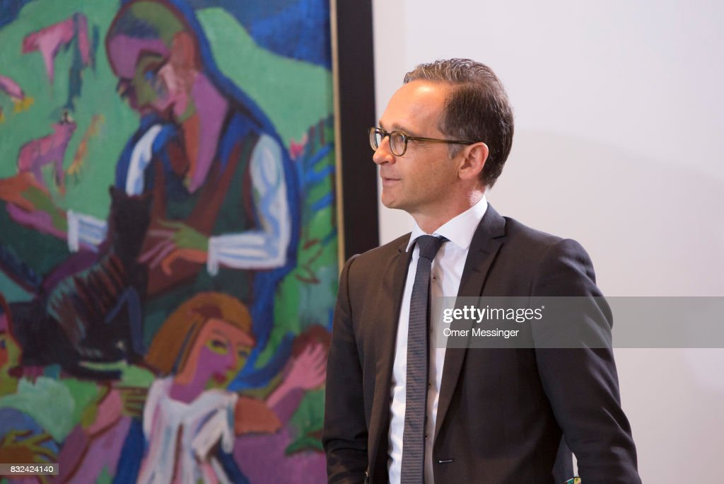 German Justice Minister Heiko Maas is seen arriving for the weekly government cabinet meeting on August 16, 2017 in Berlin, Germany. Today's is the first cabinet meeting since government members return from summer vacation. Germany faces federal elections in September.