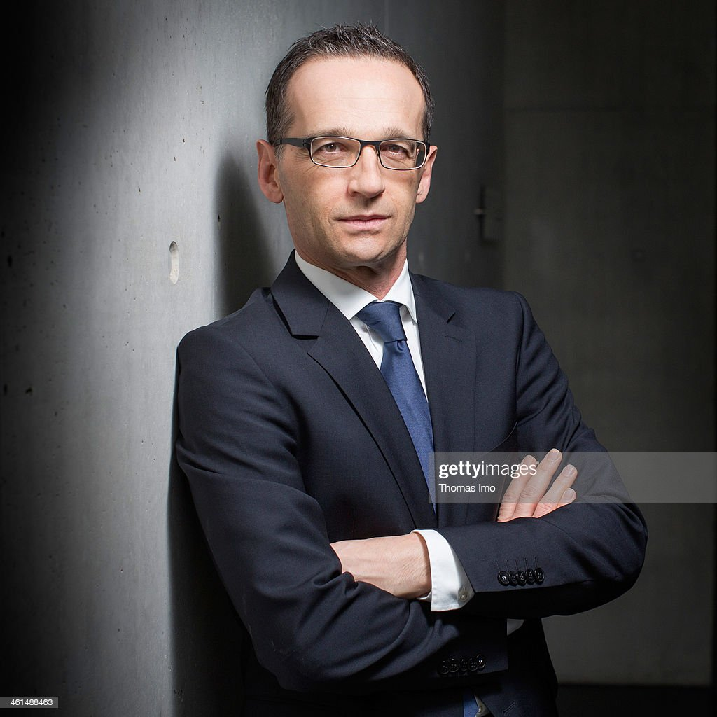 German Justice Minister <a gi-track='captionPersonalityLinkClicked' href=/galleries/search?phrase=Heiko+Maas&family=editorial&specificpeople=6214500 ng-click='$event.stopPropagation()'>Heiko Maas</a>, SPD, poses for a photograph on January 09, 2014 in Berlin, Germany.