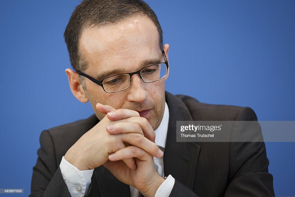 German Justice Minister Heiko Maas speaks to the media at the Federal Press Conference on May 22, 2014 in Berlin, Germany.