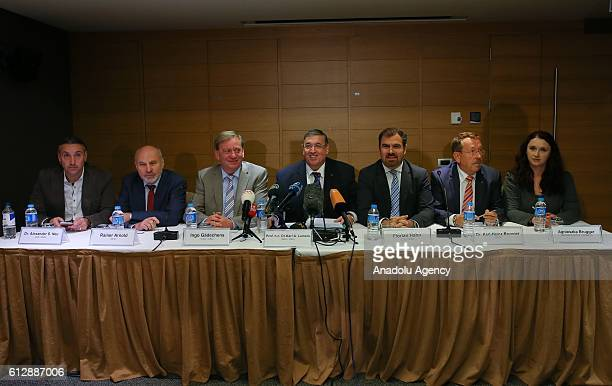 German lawmakers Agnieszka Brugger KarlHeinz Brunner Florian Hahn Ingo Gadechens Rainer Arnold Alexander S Neu and Deputy President of German federal...