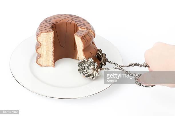 ドイツレイヤーケーキ Baumkuchen 白で分離