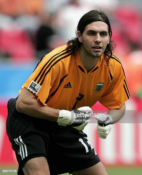 German Lux Goalkeeper of Argentina seen in action during the FIFA Confederations Cup Match between Argentina and Tunisia on June 15 2005 in Cologne...