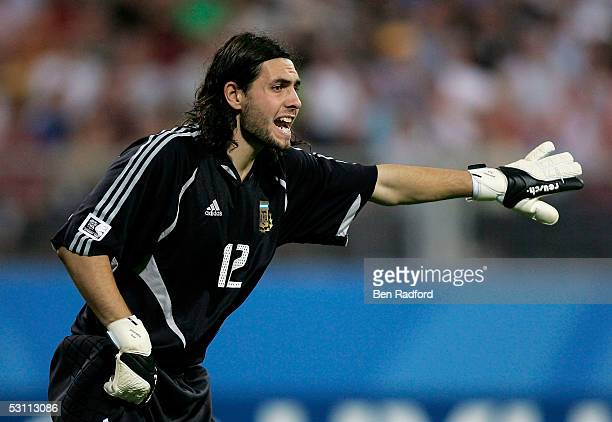 German Lux of Argentina during the Group A FIFA 2005 Confederation Cup between Argentina and Germany at the FrankenStadion on June 21 in Nuremberg...