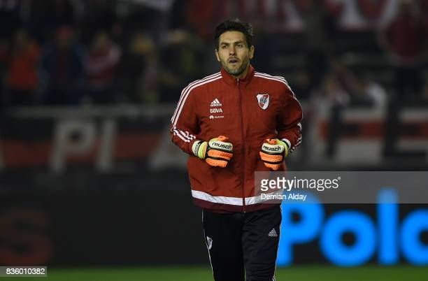 German Lux of River Plate warms up prior to a match between River Plate and Instituto as part of round 16 of Copa Argentina 2017 at Jose Maria...