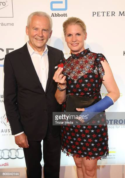 German manager Ruediger Grube and cook Cornelia Poletto attend the Charity Evening 'Das kleine Herz im Zentrum' at Curio Haus on June 22 2017 in...