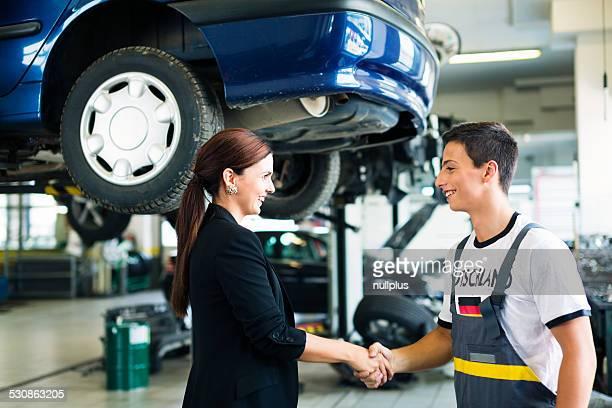 german mechanic at the auto repair shop