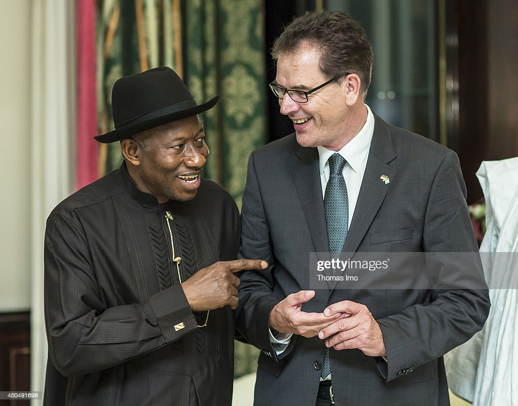 German Minister Mueller travels to Nigeria, June, 12, 2014, Abuja, Nigeria. Meeting with president Jonathan Goodluck.