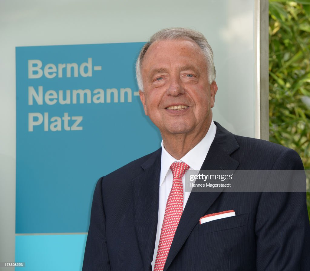 German Minister of State <a gi-track='captionPersonalityLinkClicked' href=/galleries/search?phrase=Bernd+Neumann&family=editorial&specificpeople=598616 ng-click='$event.stopPropagation()'>Bernd Neumann</a> attends the 'Bernd-Neumann-Platz' Opening at Bavaria Film television studios on July 11, 2013 in Munich, Germany.