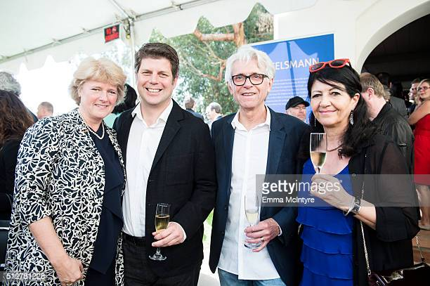German Minister of State for Culture and the Media Prof Monika Gruetters and Production Designers Adam Stockhausen and Bernhard Henrich attend the...