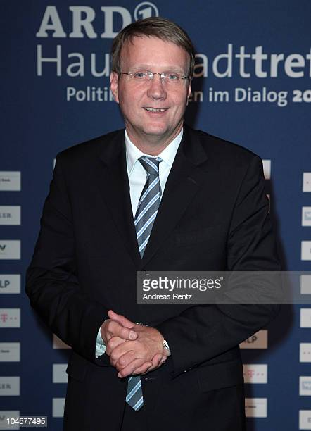 German Minister of the Chancellery Ronald Pofalla attends the ARD Haupstadttreff reception on September 30 2010 in Berlin Germany