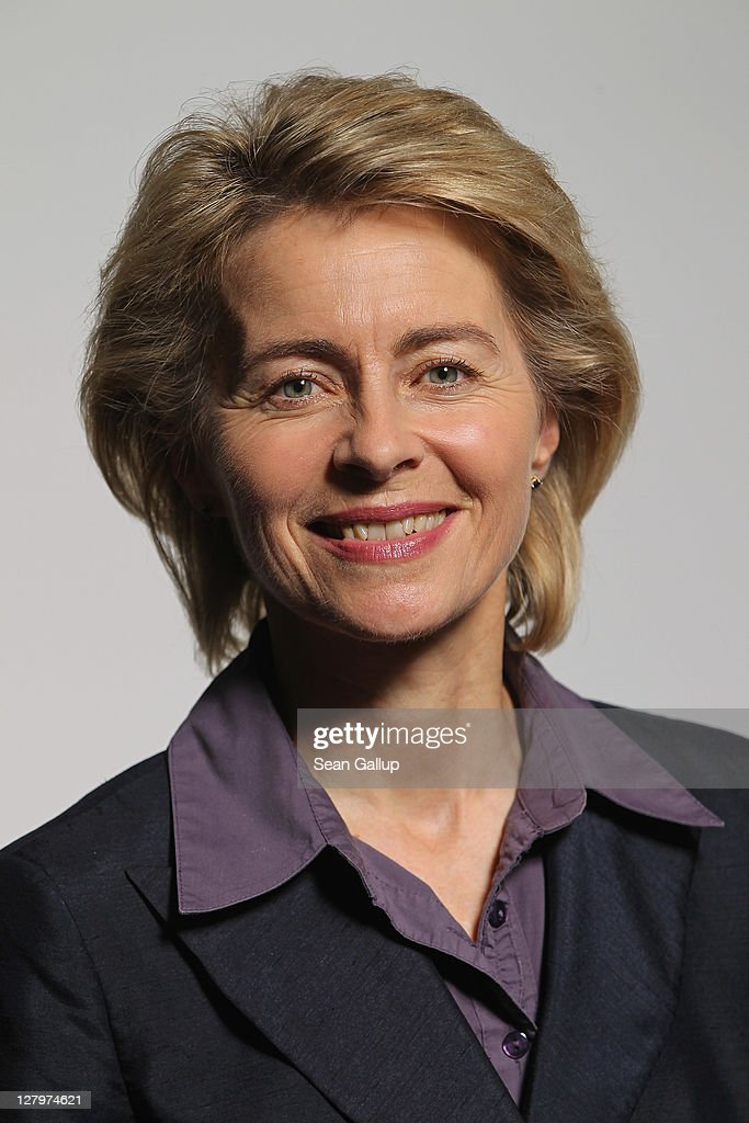 German Minister of Work and Social Issues <a gi-track='captionPersonalityLinkClicked' href=/galleries/search?phrase=Ursula+von+der+Leyen&family=editorial&specificpeople=4249207 ng-click='$event.stopPropagation()'>Ursula von der Leyen</a> poses for a photo on October 4, 2011 in Berlin, Germany. Von der Leyen, 52, is Deputy Chairwoman of the German Christian Democrats (CDU) and many analysts see her as a possible candidate one day for Chancellor.