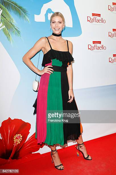 German model and ambassador of the Kindernothilfe Lena Gercke attends the Raffaello Summer Day 2016 to celebrate the 26th anniversary of Raffaello on...