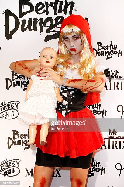 German model Fata Hasanovic attends the Halloween party by Natascha Ochsenknecht at Berlin Dungeon on October 27 2016 in Berlin Germany