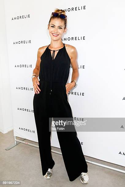 German model Fiona Erdmann attends the Amorelie Wonderland dinner party at their new headquarter on August 19 2016 in Berlin Germany