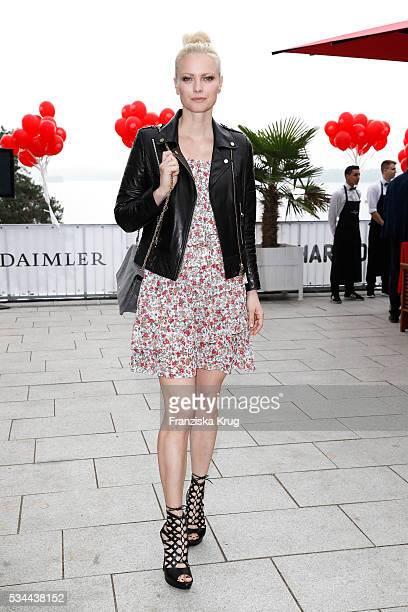 German model Franziska Knuppe during the 'Ein Herz fuer Kinder' summer party at Wannseeterrassen on May 26 2016 in Berlin Germany