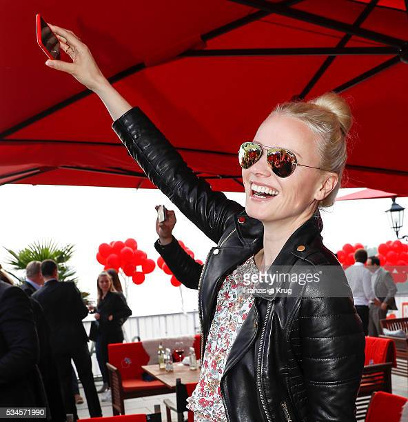 German model Franziska Knuppe during the 'Ein Herz fuer Kinder' summer party at Wannseeterrassen on May 26 2016 in Berlin Germany