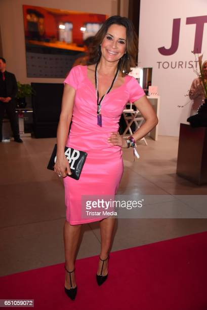 German model Gitta Saxx attends the JT Touristik Pink Carpet party at Hotel De Rome on March 9 2017 in Berlin Germany