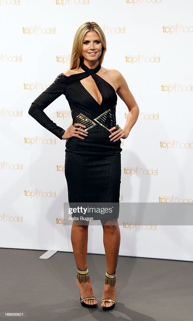 German model Heidi Klum attends a photo call for the reality television show and modeling competition Germany's Next Topmodel at Waldorf Astoria on May 27, 2013 in Berlin, Germany.