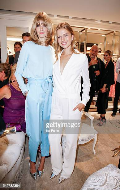 German Model Julia Stegner and Dutch Model Cato van Ee attend the ESCADA Flagship Store Opening on June 23 2016 in Duesseldorf Germany