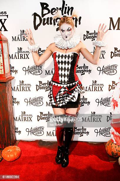 German model Kim Hnizdo attends the Halloween party by Natascha Ochsenknecht at Berlin Dungeon on October 27 2016 in Berlin Germany
