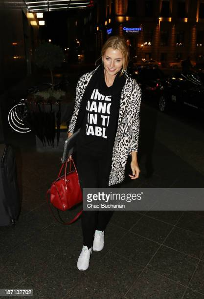 German model Lena Gercke sighting on November 6 2013 in Berlin Germany