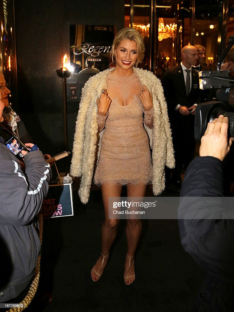 German model Lena Gercke sighting on November 7 2013 in Berlin Germany
