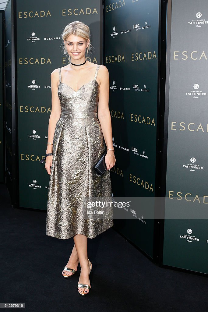 German Model Luisa Hartema attends the ESCADA Flagship Store Opening on June 23 2016 in Duesseldorf Germany