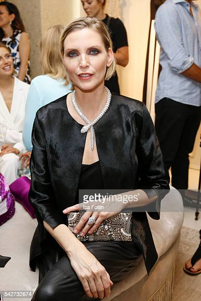 German model Nadja Auermann attends the ESCADA Flagship Store Opening on June 23 2016 in Duesseldorf Germany