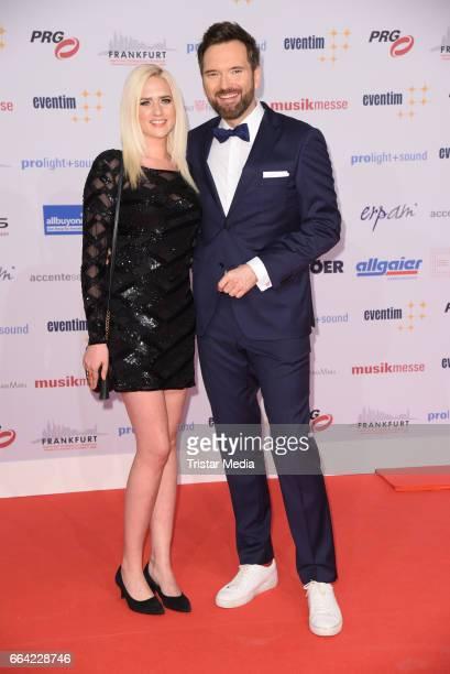 German model Sarah Knappik and her boyfriend german presenter Ingo Nommsen attend the LEA PRG Live Entertainment Award 2017 at Festhalle Frankfurt on...