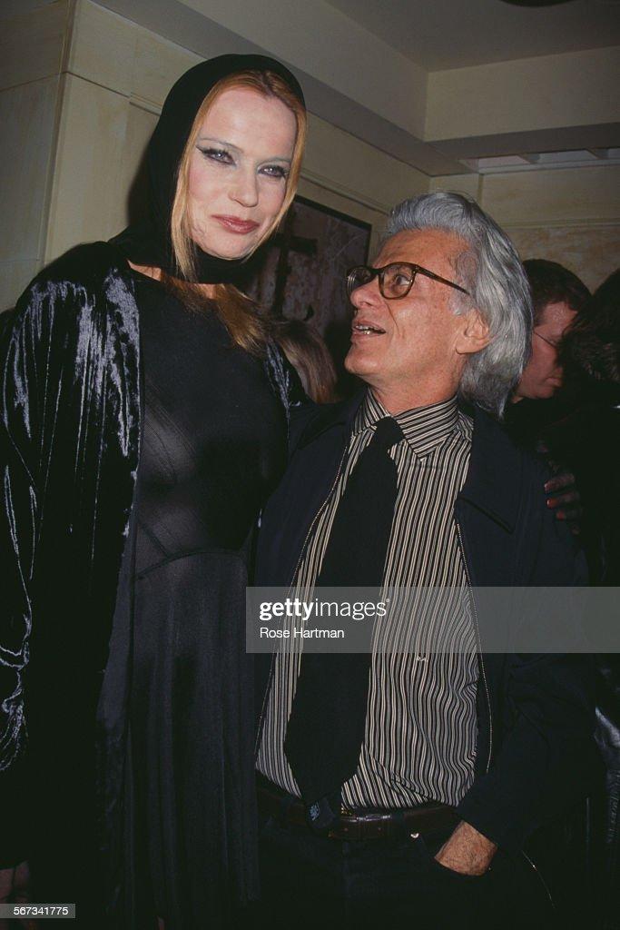 German model Veruschka von Lehndorff and American fashion and portrait photographer Richard Avedon attending the NY Magazine party New York City...