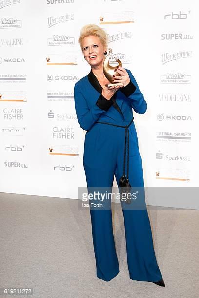 German moderator and Goldene Henne award winner Barbara Schoeneberger attends the Goldene Henne on October 28 2016 in Leipzig Germany