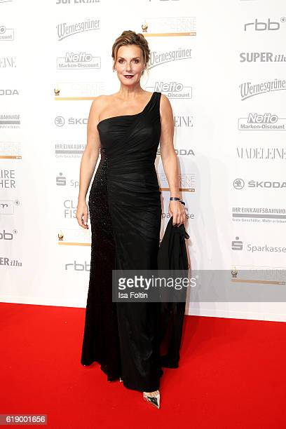 German moderator and singer Kim Fischer attends the Goldene Henne on October 28 2016 in Leipzig Germany