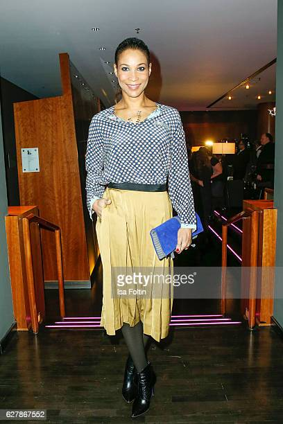 German moderator Annabelle Mandeng attends the 1st Anniversary Celebration Of Berlin Blonds on December 5 2016 in Berlin Germany