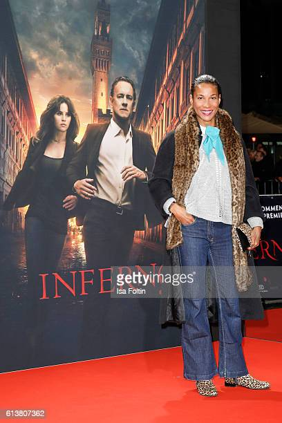 German moderator Annabelle Mandeng attends the German premiere of the film 'INFERNO' at Sony Centre on October 10 2016 in Berlin Germany