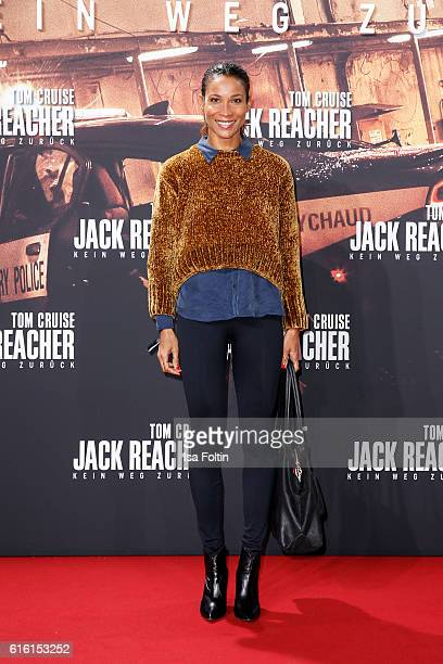 German moderator Annabelle Mandeng attends the 'Jack Reacher Never Go Back' Berlin Premiere at CineStar Sony Center Potsdamer Platz on October 21...