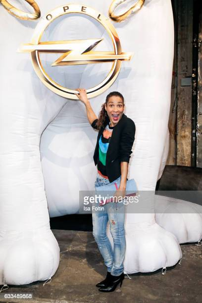 German moderator Annabelle Mandeng attends the Presentation of the new Opel Calender 2017 at Kraftwerk Mitte on February 1 2017 in Berlin Germany